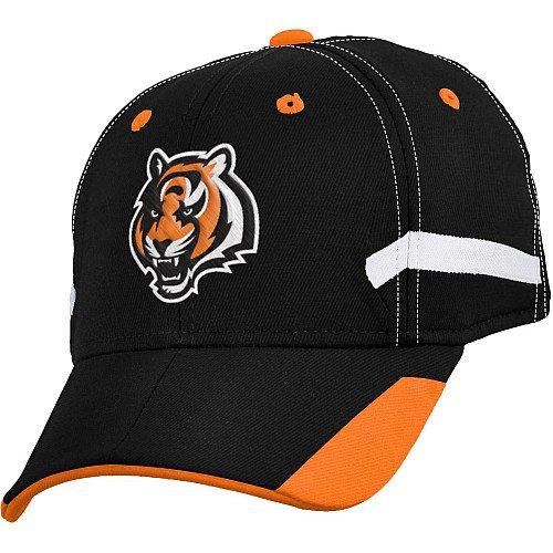 Cincinnati Bengals NFL Youth Size (8-20) Stadium Structured Flex Cap One Size Fits Most Black