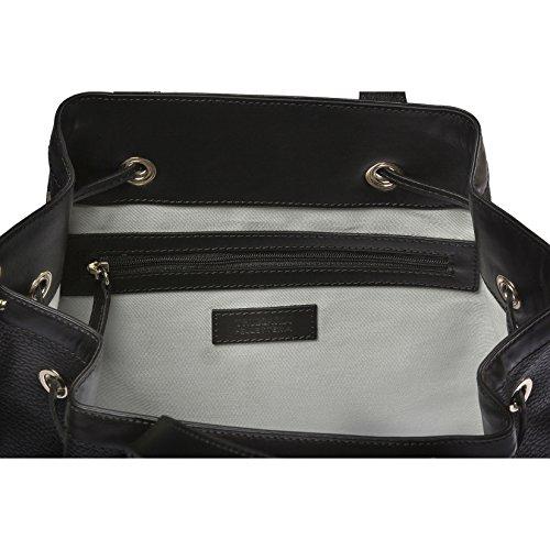 Trussardi mujeres bolso, la bolsa de asas de dólar genuino y cuero liso, 100% Becerro - 26x29x19 Cm Negro