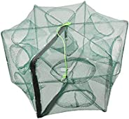 Portable Bait Traps Fishing Nets Foldable - Easy Use Hand Casting Bait Traps Cage Baits Cast Mesh Trap for Fis