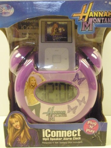 Hannah Montana iConnect Mp3 Speaker Alarm (Hannah Montana Alarm Clock)