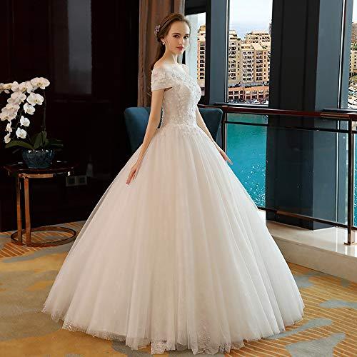 Sposa Wjz Una Sogno Bianca Tubo Sposato Abito Sen Matrimonio Parola Spalla Superiore Semplice Principessa Luce 55rg1