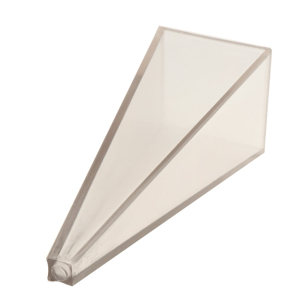 Baoblaze High Quality Plastic PVC Pyramid Shaped (50mm x 50mm 150mm) Plastic Candle Molds Soap Molds DIY Crafts Clay Chocolate Tools fit for paraffin, wax, beeswax, clay, soap, resin