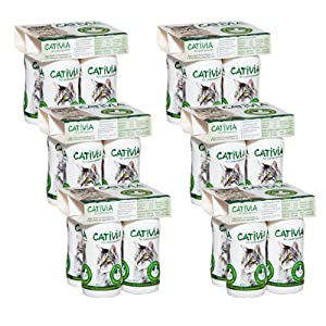 Dehner Cativia – Leche prebiótica para Gatos (6 x 4 Botellas, 2,28 L)