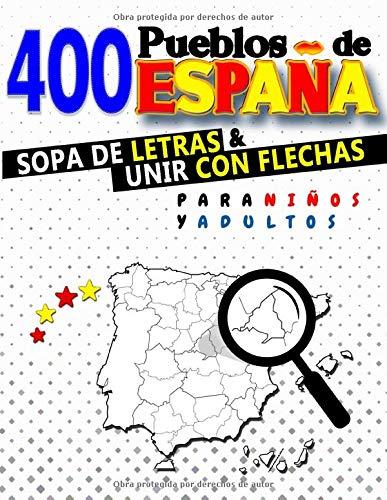 400 Pueblos de España Sopa de Letras y Unir con Flechas para Niños ...