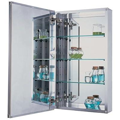 "Pegasus SP4580 15"" x 26"" Single Door Medicine Cabinet with Beveled Mirror,"
