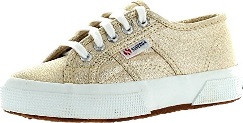 Superga Girls 2750 Lamej Classic Lace up Fashion Sneakers,Gold,27 ()