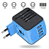 Travel Adapter Italy, VOGTEL Worldwide All in One Universal Power...