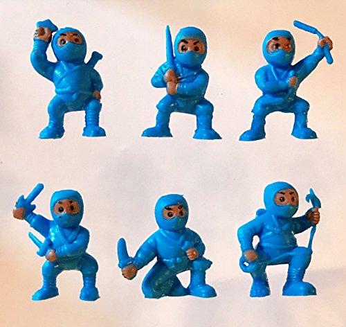 40 Blue Mini Karate Ninjas Warriors Fighters Figures Cupcake Cake Toppers Ninja Kung Fu Guys Martial Arts Men Lot Party (Halloween Birthday Cakes For Men)