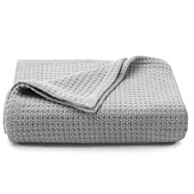 Tommy Bahama 221186 Bahama Coast Gray Cotton Blanket,Pelican Gray,King