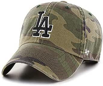 '47 Los Angeles LA Dodgers Clean Up Adjustable Hat - Camo/Black, Unisex, Adult - MLB Baseball Cap