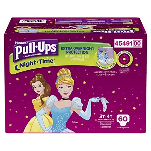 Pull-Ups Learning Designs Training Pants for Girls, 3T-4T, 60 Count