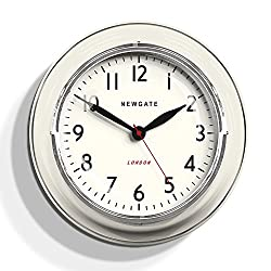 Newgate Cookhouse Kettle Wall Clock Linen White