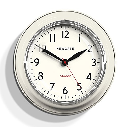 Newgate Cookhouse Kettle Wall Clock Linen White