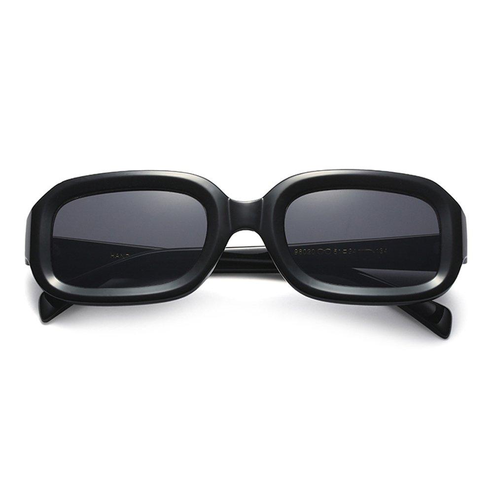 FBNSJA Gafas de Sol rectangulares pequeñas Mujeres Retro ...