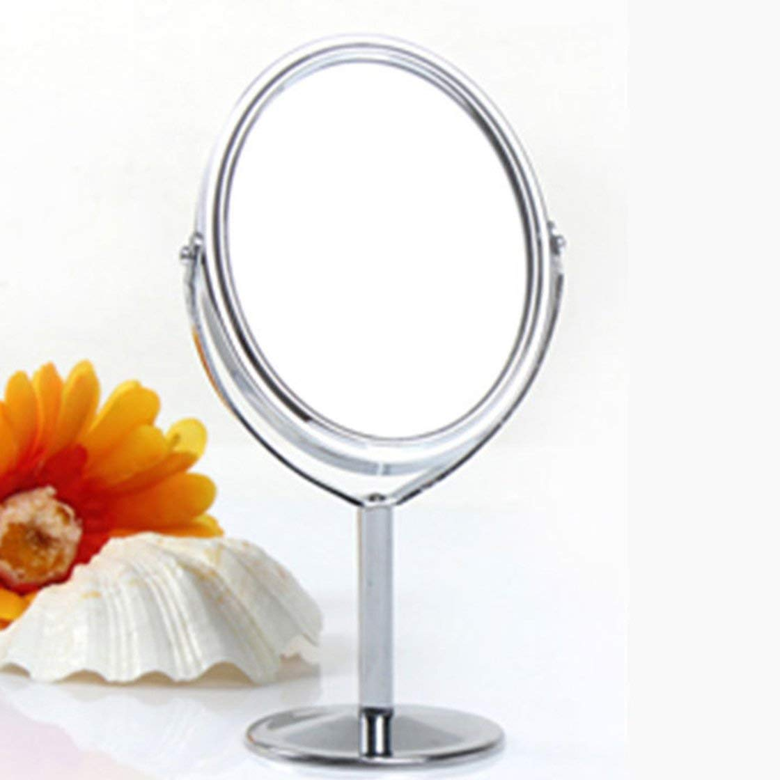 Gwendoll 828t Espejo de Metal Coreano Espejo de Maquillaje Espejo de tocador Espejo Giratorio de Escritorio Funci/ón de Aumento 1 2 Espejo de Maquillaje