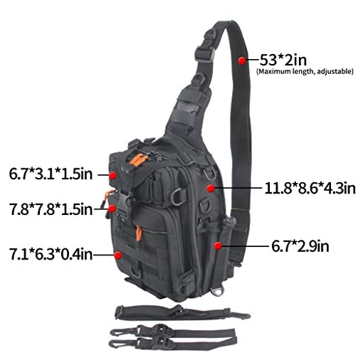 f9b4e0493b73 ... Water-Resistant Fishing Tackle Bag Sports Shoulder Bag Crossbody  Messenger Bag for Fishing Hiking Climbing Cycling Hunting. Sale. On Sale