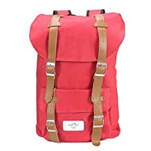"""Outdoor Travel Hiking Pink Backpack Laptop Schoolbag (36-55L) for Men and Women, 18"""""""