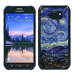 Newest Samsung Galaxy S6 Active Case ,Popular And Beautiful Designed Case With Aj Vincent Van Gogh Starry Night Classic Painting Art Illust black Samsung Galaxy S6 Active Screen Cover High Quality Phone Case