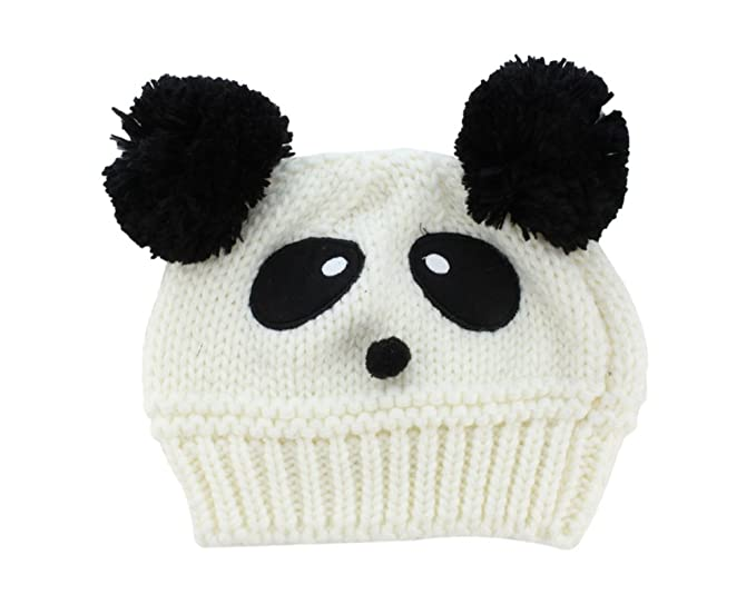 b74997f2501 Image Unavailable. Image not available for. Color  BONAMART Baby Infant Boys  Girls Knitted Beanie Hat Cap Lovely Panda ...