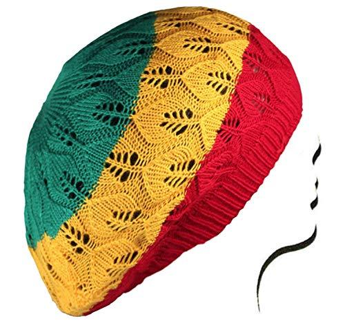 Rasta Crochet Slouchy Tam Beanie Reggae Marley Jamaica Rastafari Dreadlocks - Rasta Crochet Tam