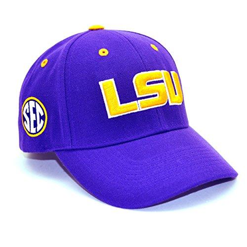 Louisiana State Adult Adjustable Triple Conference Hat, Purple