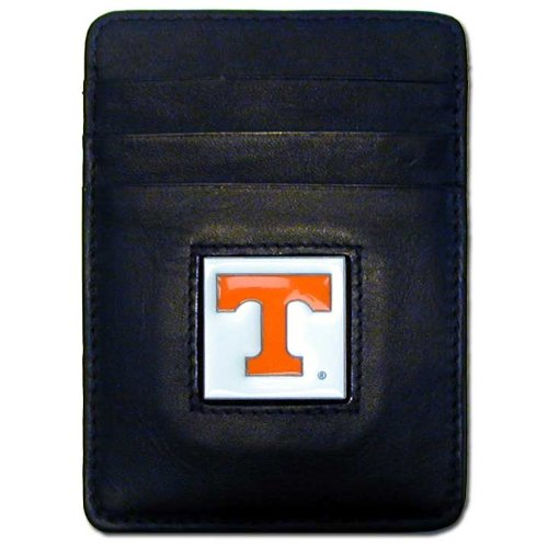 NCAA Tennessee Volunteers Leather Money Clip/Cardholder Wallet