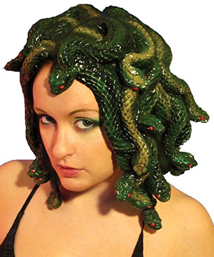 [UHC Medusa Latex Wig Snake Lady Horror Movie Character Adult Costume Accessory] (Medusa Costumes Wig)