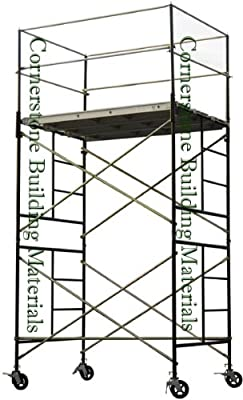 Metaltech SAFERSTACK Complete 2-Section High Tower Scaffolding System, Model# M-MRT5710