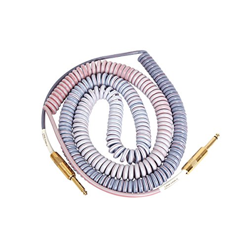 Lava Morph Coil Instrument Cable Straight Silent to Straight Reds, Pinks, Brown, (Morph Shield)