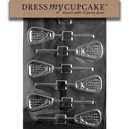 Dress My Cupcake Chocolate Candy Mold, Lacrosse Lollipop]()