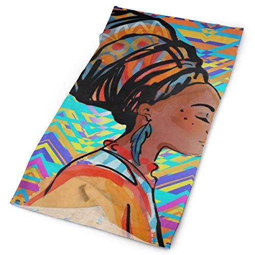 Women Headbands African Woman Vintage Stretchable Magic Scarf Yoga Fashion Workout Athletic