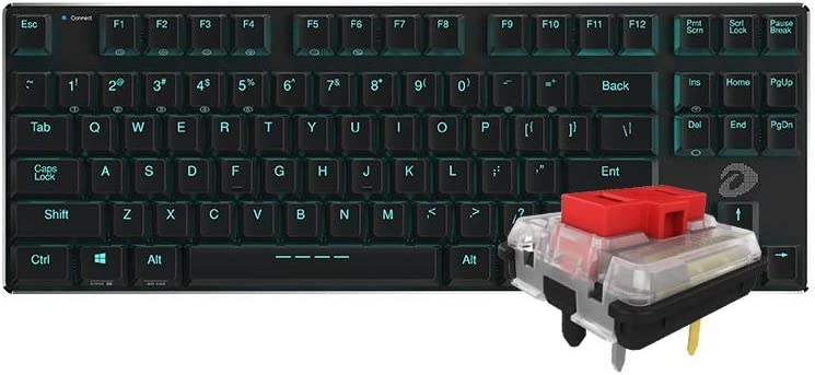 CQIANG Mechanical Keyboard Office And G Professional-grade Backlit Desktop Computer Laptop Office Gaming Keyboard Wired And Bluetooth Dual Mode Blue//red Key Axis Black//white Keyboard 68//87 Button