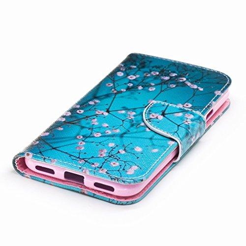 Custodia Google Pixel Cover Case, Ougger Fiorire Portafoglio PU Pelle Magnetico Stand Morbido Silicone Flip Bumper Protettivo Gomma Shell Borsa Custodie con Slot per Schede
