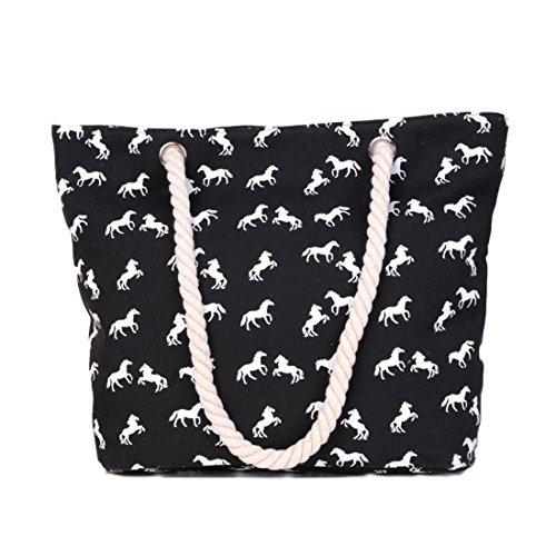 UNYU Tote Bag - Bolso de tela para mujer negro