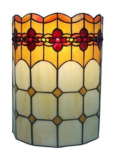 Geometric Glass Sconce - Amora Lighting AM090WL10 Tiffany Style 2-light Geometric Wall Sconce