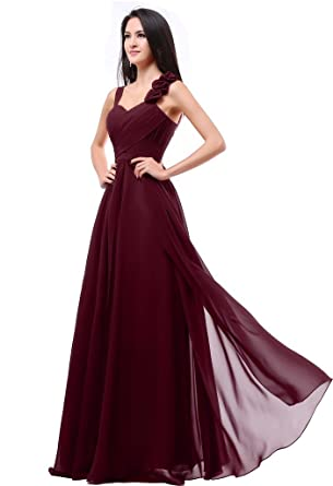 Balllily Womens Formal Bridesmaid Dress Gown Size 2 Burgundy