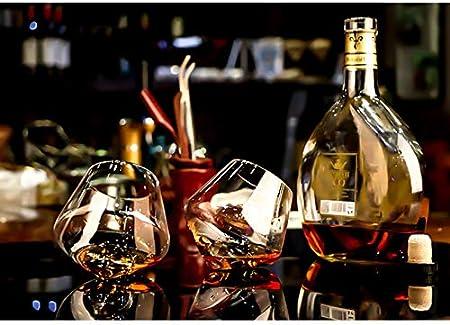 HWY Copas De Vino Tinto Vaso Copa De Champán Copas De Vino Blanco Cristal Copas De Vino Personalizadas para Regalar 340 Ml,6 Unidades