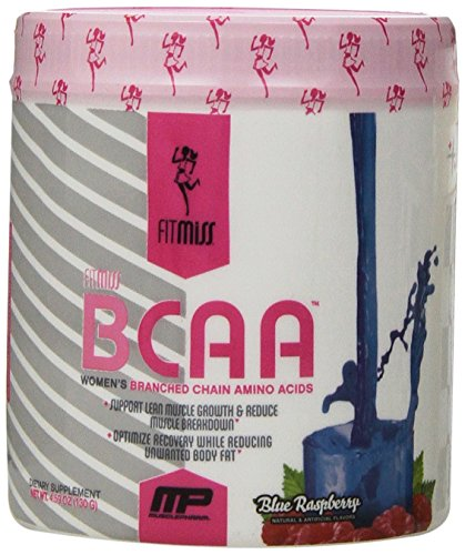 FitMiss Women's BCAA Powder, 6 Grams of BCAAs Amino Acids, Post Workout Recovery Drink for Muscle Recovery and Muscle Building, Blue Raspberry, 30 Servings