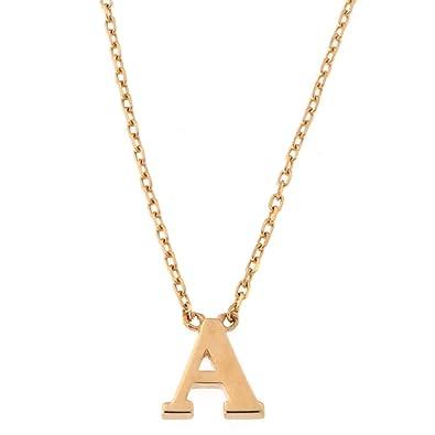 Amazon beauniq 14k rose gold tiny initial pendant necklace 16 beauniq 14k rose gold tiny initial pendant necklace 16quot aloadofball Choice Image