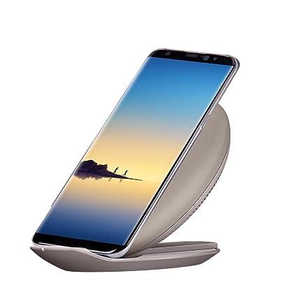 Cargador inalámbrico con soporte rápido para Samsung Galaxy Note 8, Jaminy Qi