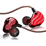 SXGINBT Noise Isolation Workout Music Earbuds,Running Sport Headphones with MIC(Red)
