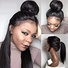 Jolitime Hair Silky Straight Lace Front Wigs Synthetic Fiber Hair Synthetic Wigs High Ponytail Black Hair 20Inch