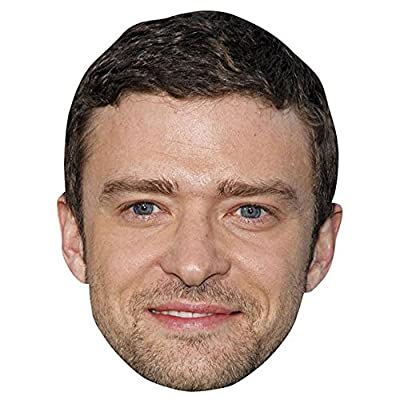 Justin Timberlake Celebrity Mask, Card Face and Fancy Dress Mask