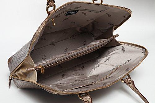 Borsa pelle di lusso, Adria, motivo: pelle di coccodrillo