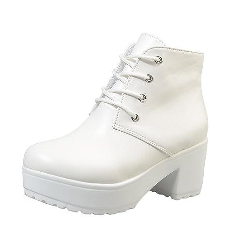 BBestseller Invierno Botas para Mujer Botines Cortos de Mujer Botines Medios Botines Sport Boots Zapatos con Cremallera: Amazon.es: Zapatos y complementos