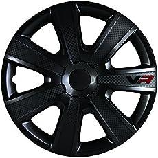 Alpena 58260 VR Carbon Wheel Cover Kit - Black - 16-Inch - Pack of 4