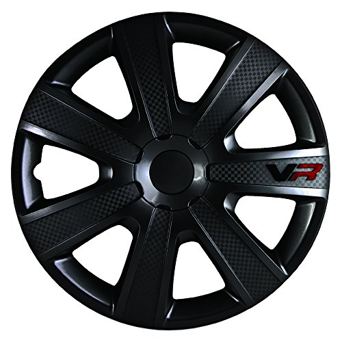 Alpena 58260 VR Carbon Wheel Cover Kit - Black - 16-Inch - Pack of 4