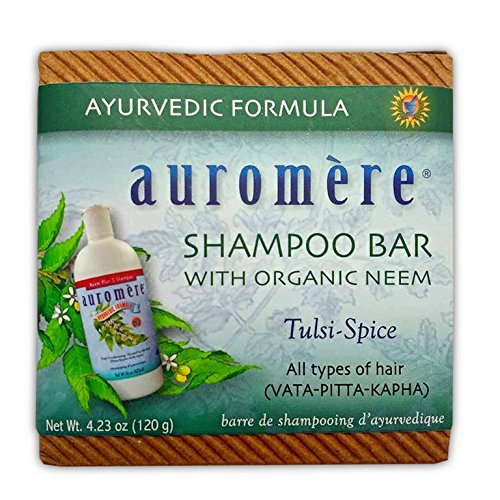 Ayurvedic Shampoo Bar by Auromere - Can be Used for Both Face & Body - All Natural Unique Formula for Natural Cleansing, Nourishing and Rejuvenating Properties for the Hair and - Ounce 4.23 Liquid