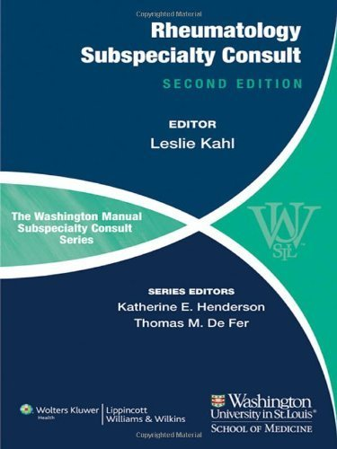 Download The Washington Manual of Rheumatology Subspecialty Consult Second Edition by Kahl, Leslie (2012) Paperback ebook