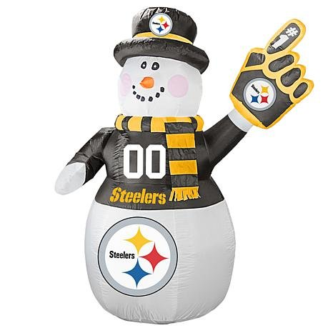 Boelter Brands NFL Pittsburgh Steelers Inflatable Snowman, 7ft